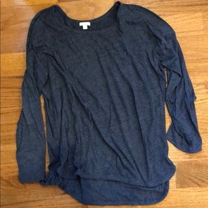 Gap Gray Long-Sleeve Shirt